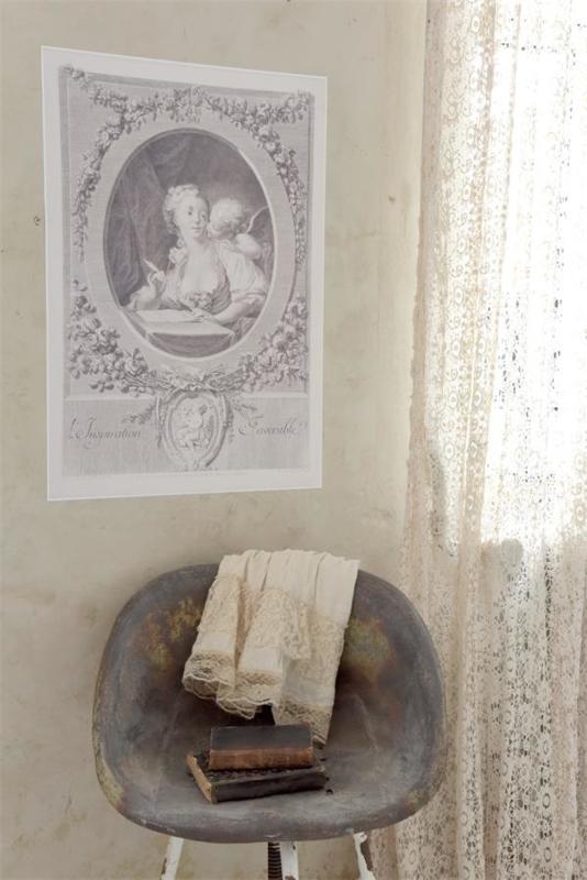 Poster vrouw met engel Jeanne d'Arc Living