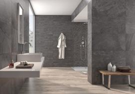 Black mozaiek 31,6x31,6 cm per matje
