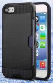 Zwart portemonnee hoesje iPhone 6 / 6s hardcase