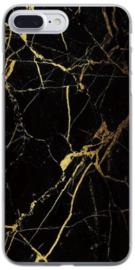 Zwart goud marmer hoesje iPhone 8 Plus softcase