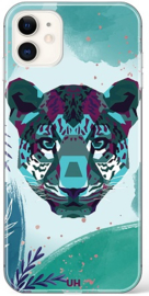 Panter hoesje iPhone 11 Pro paars groen softcase