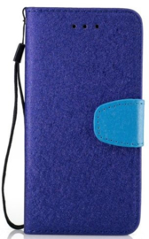 Blauw flip case hoesje iPhone 7 Plus