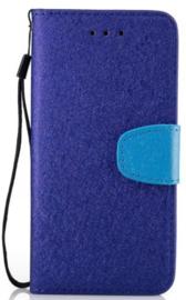 Blauw flip case hoesje iPhone 7