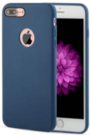 Donkerblauw iPhone 7 Plus hoesje softcase