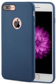 Donkerblauw iPhone 7 Plus hoesje softcase