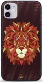 Leeuw grafisch telefoonhoesje iPhone 12 softcase