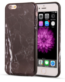Zwart marmer hoesje iPhone 8 softcase