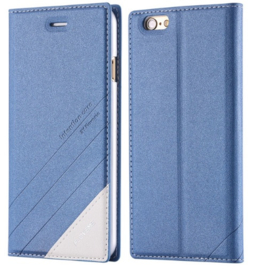 Blauw book case hoesje iPhone 5 / 5s / SE