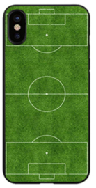 Voetbalveld hoesje iPhone X softcase