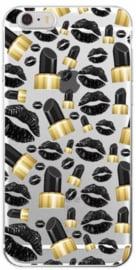 Zwarte lippenstift hoesje iPhone 8 Plus softcase