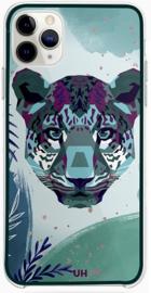 Panter telefoonhoesje iPhone 12 Pro paars groen softcase