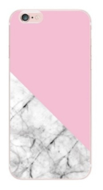 Roze marmer hoesje iPhone 5 / 5s / SE softcase