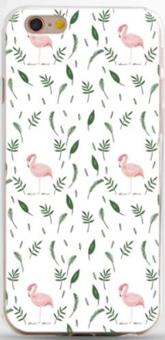 Wit flamingo hoesje iPhone 6 / 6s softcase