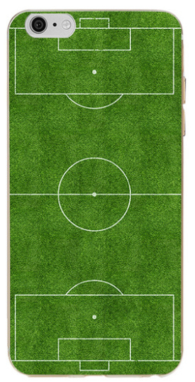 Voetbalveld hoesje iPhone 6 / 6s softcase