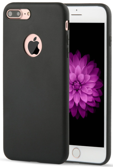 Zwart iPhone 7 Plus hoesje softcase