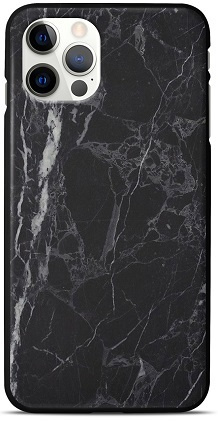 Marmer zwart telefoonhoesje iPhone 12 Pro backcover
