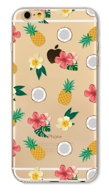 Transparant fruit hoesje iPhone 6 / 6s softcase