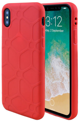 Rood hoesje iPhone X softcase