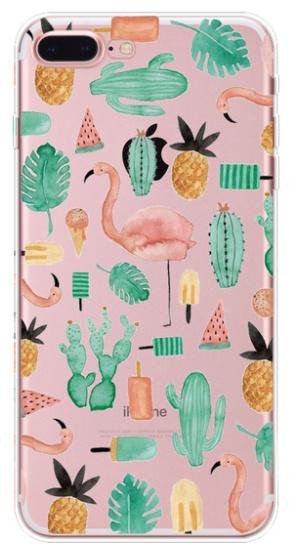 Flamingo cactus hoesje iPhone 7 Plus softcase