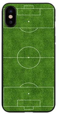 Voetbalveld hoesje iPhone X softcase