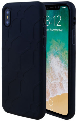 Zwart hoesje iPhone X softcase