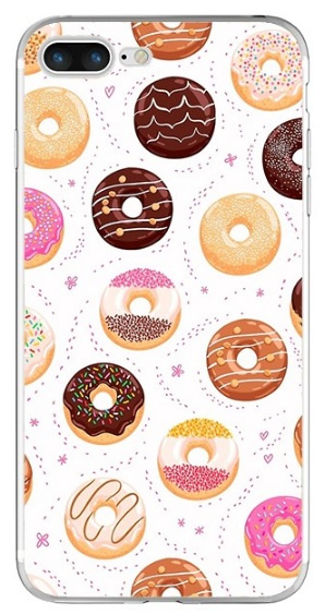 Donut hoesje iPhone 7 Plus softcase