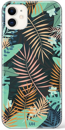 Jungle patroon hoesje iPhone 12 softcase