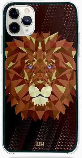 Leeuw grafisch telefoonhoesje iPhone 12 Pro softcase