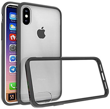 Zwart transparant hoesje iPhone X hardcase