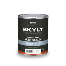 SKYLT Overlakbare Kleurolie 2K White 5051 - 1 liter
