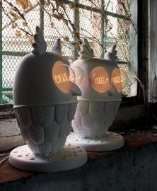 Karman TI.VEDO staande lamp uil