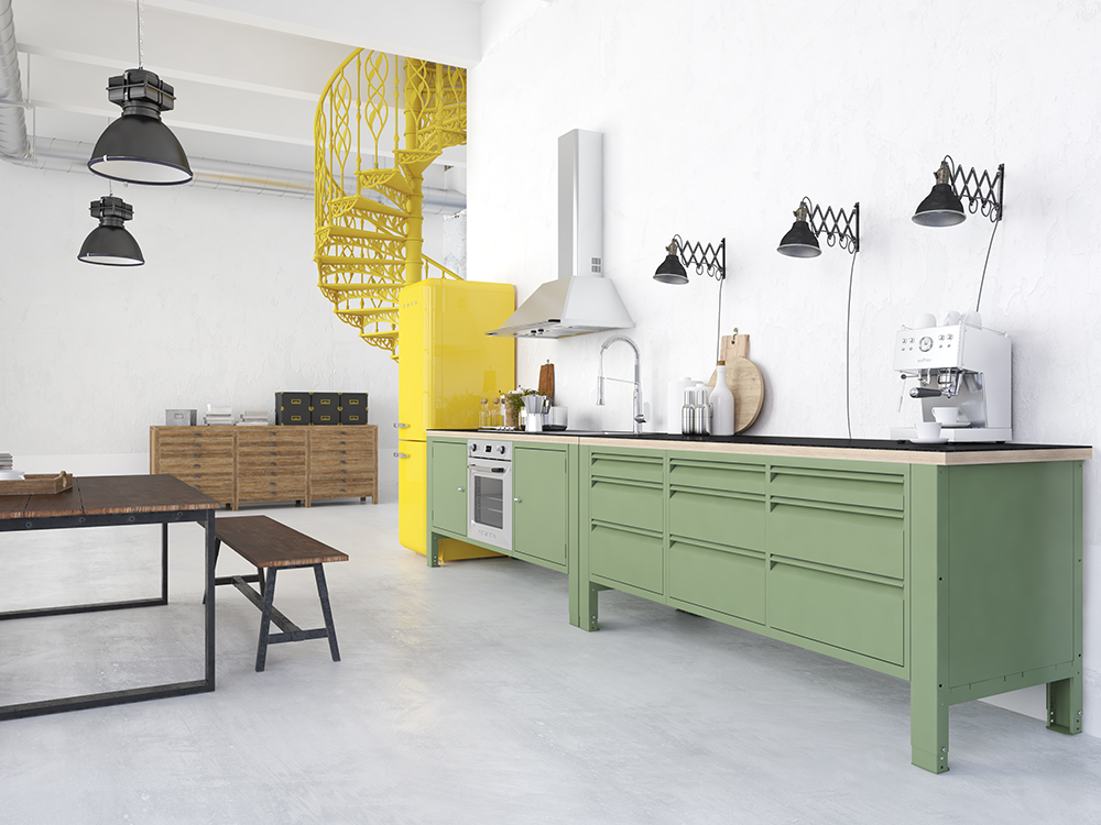 the big easy modular kitchen industrial steel black