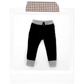 Black + grey Joggers