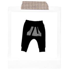 Harem striped pocket Black