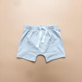 Light Grey Front Pocket Harem Shorts