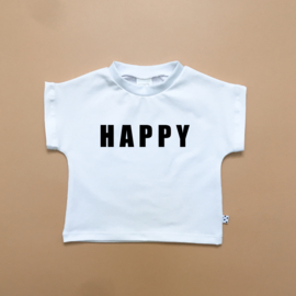 HAPPY T-shirt Wit