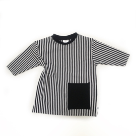 Basic Stripes Oversized Pocket Dress