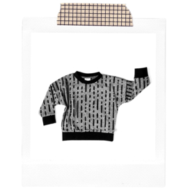 Grey brushstrokes Sweater