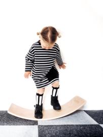 Black stripes Oversized Pocket Dress