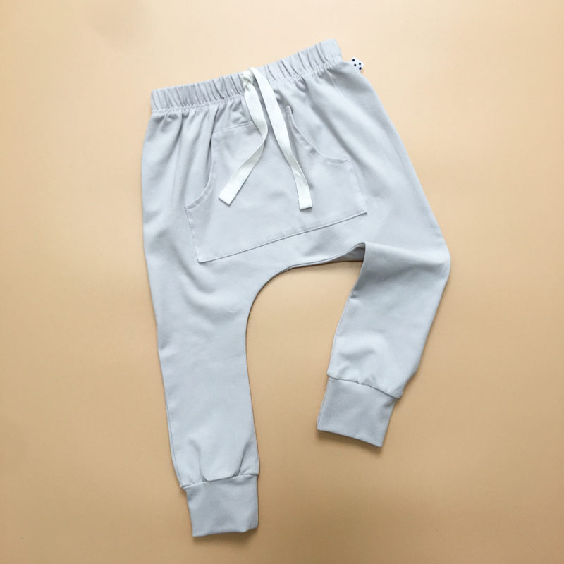 Light Grey Front Pocket Harem