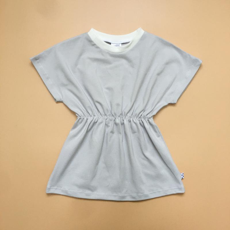 Light Grey basic Elastic Dress