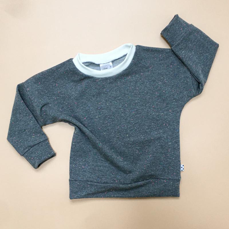 Grey multi colour Sweater