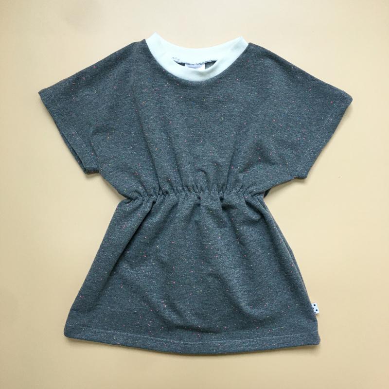 Grey multi colour Elastic Dress
