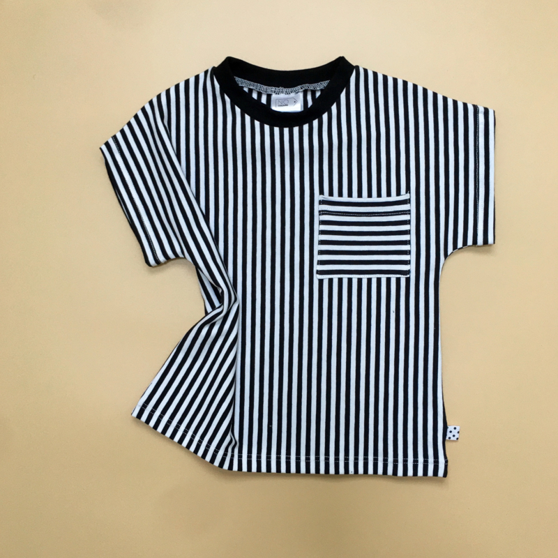 T-shirt Stripes Striped pocket