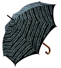 Grote paraplu met bladmuziek