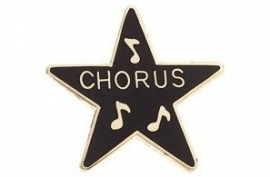 Speldje ster award Chorus zwart