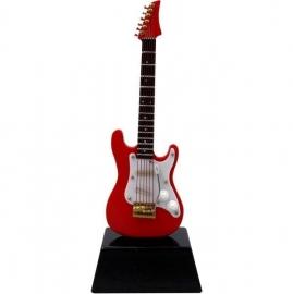 Miniatuur rode elektrische gitaar