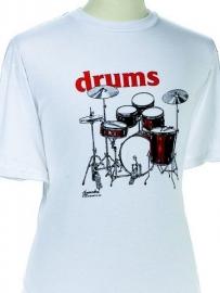T-shirt met drumstel