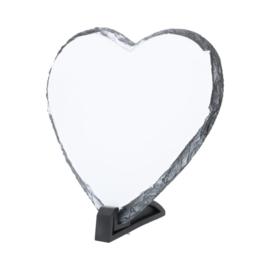 Leisteen hartvormig, met persoonlijke afbeelding