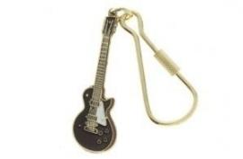 Sleutelhanger met Les Paul Custom elektrische gitaar